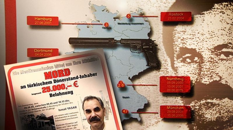 Grafik: NSU-Morde in Deutschland / (C) rbb/Kriminalpolizei